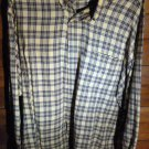 NAUTICA MEN'S SHIRT - BLACK/YELLOW/GREEN PLAID - SIZE XL/TG