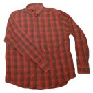 Mens Red Gray Maroon TRICOTS ST RAPHAEL Button Down Shirt Large