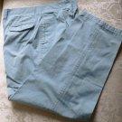 CLAIBORNE Men's Green Pleated Pants 36 X 29