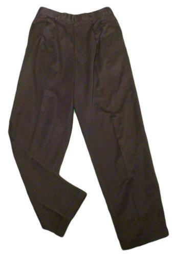 Mens Black PERRY ELLIS Pleated Dress Pants 30 X 31 1/2 100% Polyester