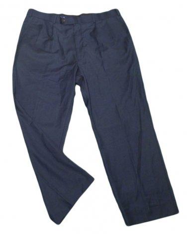 Mens Blue ALAN FLUSSER Pleated Dress Pants 40 X 28 1/2 Polyester Blend
