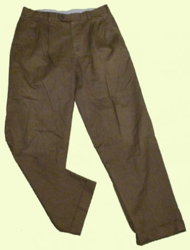 Mens Gray AXIST Pleated Casual Dress Pants 33 X 30 1/2 Cotton Blend