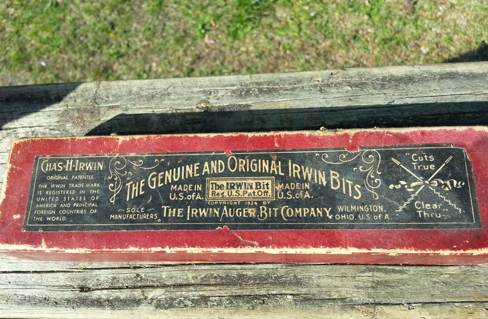 VINTAGE Genuine IRWIN AUGER BIT CO. EXPANSIVE DRILL BIT #1  w/ BOX & Instructons