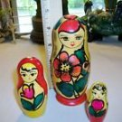 RUSSIAN Woman SWEET Mother w/Children NESTING DOLLS Rare RUSSIA USSR