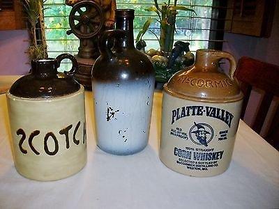 Original McCORMICK Platte Valley Straight Corn Whiskey Stoneware Jug ++ SCOTCH