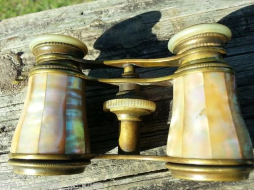 ~2~ Antique Brass PARIS ~Mother of Pearl~ Opera Glasses LEMAIRE FABT Binoculars