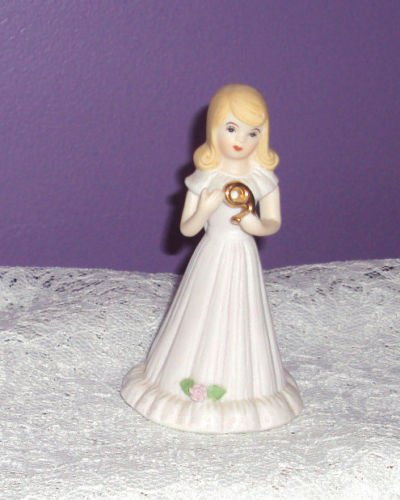"ENESCO ""GROWING UP GIRLS""  Blonde ""AGE 9""  Porcelain Figurine ~1981~"