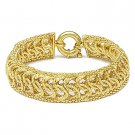 Solid Italy 925 Sterling Silver Braided Mesh Link Fashion Chain Italian Bracelet