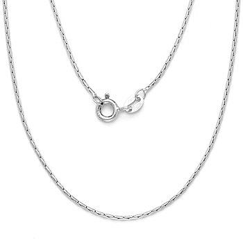Solid 925 Sterling Silver Cardano Boston Link Chain Men's Necklace Italian Italy