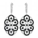 3.34 ct Dangling Earrings CZ Crystal 925 Sterling Silver Victorian Reproduction