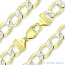 Cuban Curb 925 Sterling Silver 14k Yellow Gold GP 12mm Link Italy Chain Bracelet