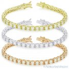5mm Round Cut Cubic Zirconia CZ Crystal Tennis Bracelet in .925 Sterling Silver