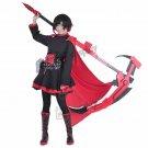 RWBY Ruby Rose Cosplay Costume Women Fancy Red Black Dress Cloak