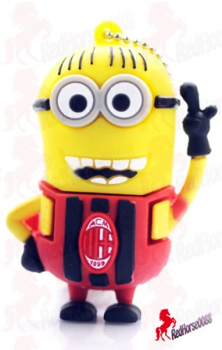 Despicable Me Character in Barcelona RED Soccer Outfit � 8gb USB Flash Memory Drive _ USB-02