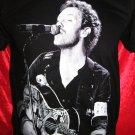 !! FREE SHIPPING!! COLDPLAY British rock band Chris Martin handmade black t shirt size L