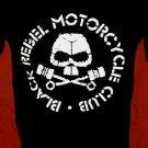 !! FREE SHIPPING!! Black Rebel Motorcycle Club rock band BRMC handmade black t shirt size S