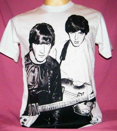 !! FREE SHIPPING!! THE BEATLES band John Lennon&Paul McCartney men women t shirt size S