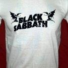 !! FREE SHIPPING!! Black Sabbath heavy rock band Ozzy Osbourne handmade white t shirt size M