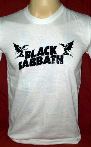 !! FREE SHIPPING!! Black Sabbath heavy rock band Ozzy Osbourne handmade white t shirt size XL