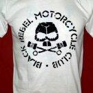 !! FREE SHIPPING!! Black Rebel Motorcycle Club rock band BRMC handmade white t shirt size M