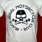 !! FREE SHIPPING!! Black Rebel Motorcycle Club rock band BRMC handmade white t shirt size L