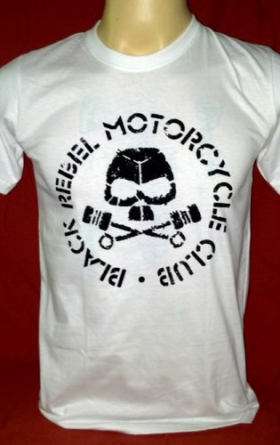 !! FREE SHIPPING!! Black Rebel Motorcycle Club rock band BRMC handmade white t shirt size XL