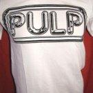 !! FREE SHIPPING!! PULP alternative rock band white t shirt men's size M