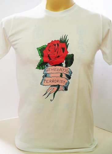 !! FREE SHIPPING!! Generation Terrorists Manic Street Preachers rock band white t shirt size XL