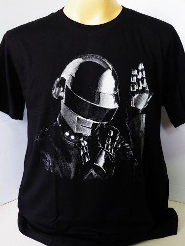 !! FREE SHIPPING!! Daft Punk electronic dance rock music band black t shirt size XL