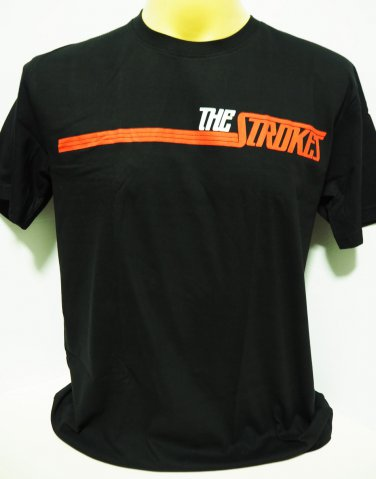 !! FREE SHIPPING!! The Strokes American alternative indie rock band black t shirt size L