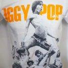 !! FREE SHIPPING!! Iggy Pop American singer punk hard rock band white t shirt size L