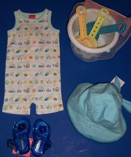 Fun in the Sun Baby Shower Gift Set Gymboree Pool Party 3 Months