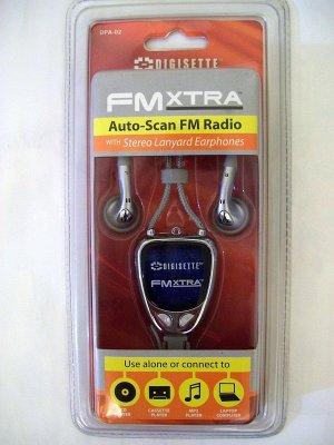 Digisette FM Xtra Auto-Scan FM Radio with Lanyard Earphones