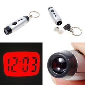 Mini LCD Digital Projection Clock Keychain