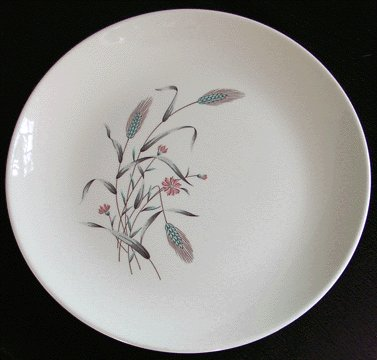 HOMER LAUGHLIN Spring Garden DINNER PLATE 1965