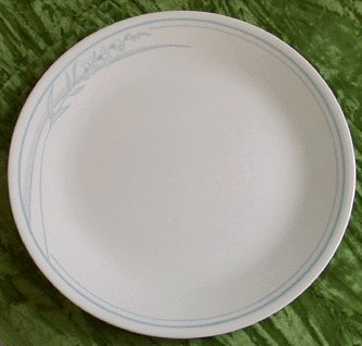 CORNING Dinner Plate CORELLE Blue Lily