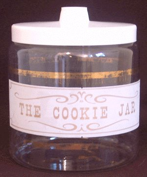 THE COOKIE JAR Vintage Glass Kitchen Canister 1960s
