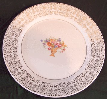 AMERICAN LIMOGES Juliet DINNER PLATE Triumph 22 kt Gold