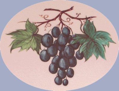 Vintage Melmac ROYALON OVAL PLATTER Grape Motif