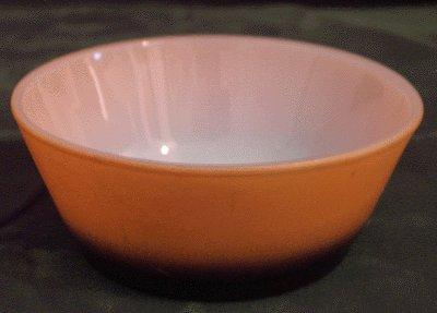 FIRE KING Fired-On PUMPKIN ORANGE Bowl