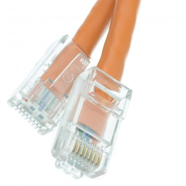 10ft Cat6 Orange Ethernet Patch Cable, Bootless, 10 foot  10X8-13110