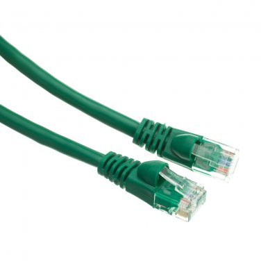 35ft Cat6 Green Ethernet Patch Cable, Snagless/Molded Boot 10X8-05135