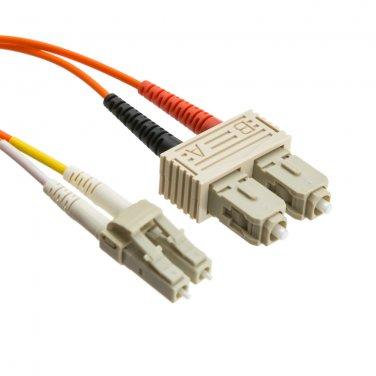 16.5ft Fiber Optic Cable, LC / SC, Multimode, Duplex, 50/125, 5 meter LCSC-11005