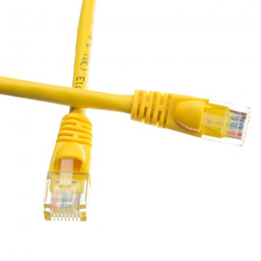 3ft Cat6a Yellow Ethernet Patch Cable, Snagless/Molded Boot, 500 MHz 13X6-08103