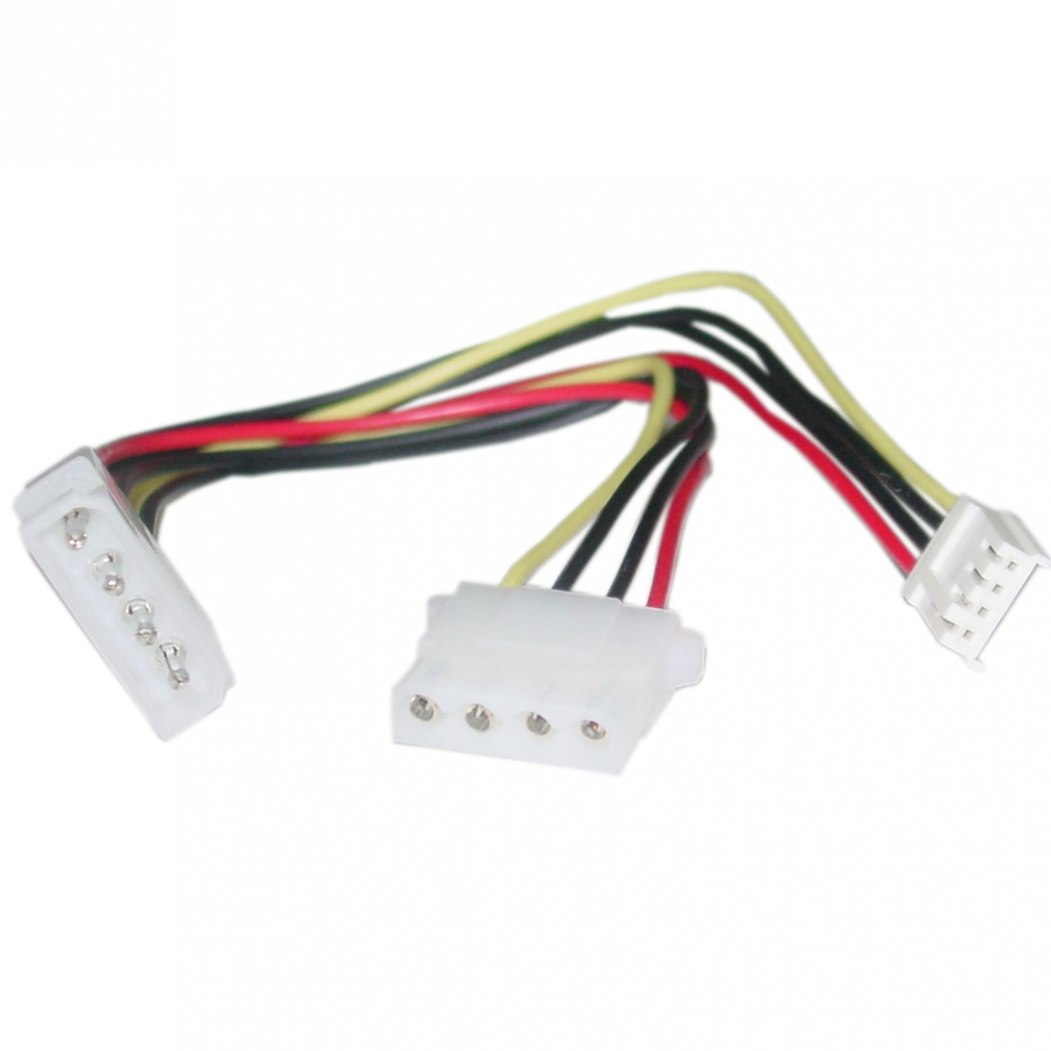 4 Pin Molex to Floppy and 4 Pin Molex Power Y Cable, 5.25 inch Male to 5.25 inch Female and 3.5 inch