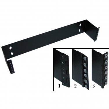 Rackmount Hinged Wall Mounting Bracket, 2U, Dimensions: 3.5 (H) x 19 (W) x 4 (D) inches