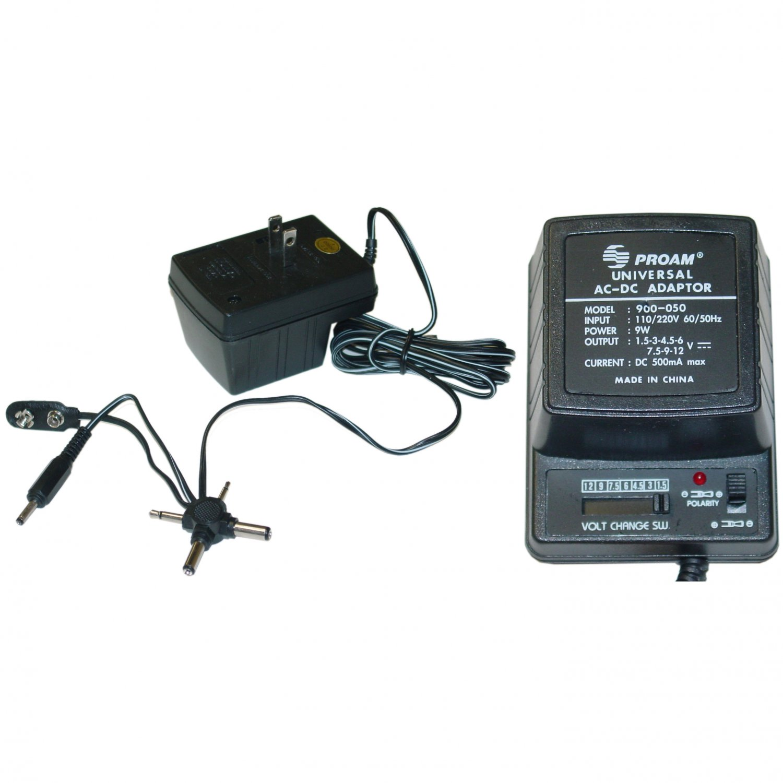 500mA Universal AC / DC Adapter, 9W  90D5-05000