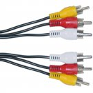 6FT RCA Audio / Video Cable, 3 RCA Male, 6 foot 10R1-03106