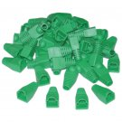 RJ45 Strain Relief Boots, Green, 50 Pieces Per Bag