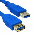 USB 3.0 Extension Cable, Blue, Type A Male / Type A Female, 10 foot